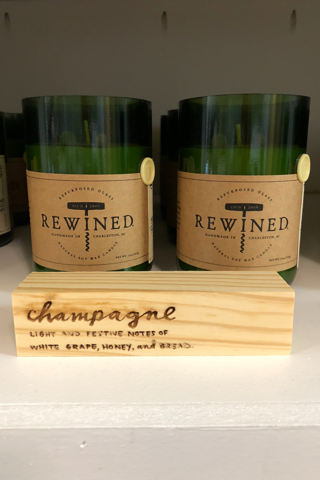 Rewined Champagne Candle - Main Image