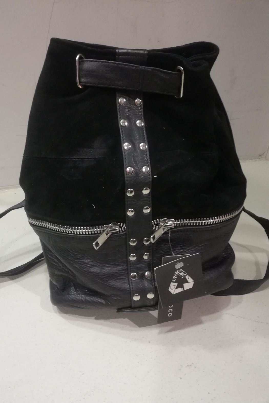 BAM Reworked Leather Backpack - Front Full Image