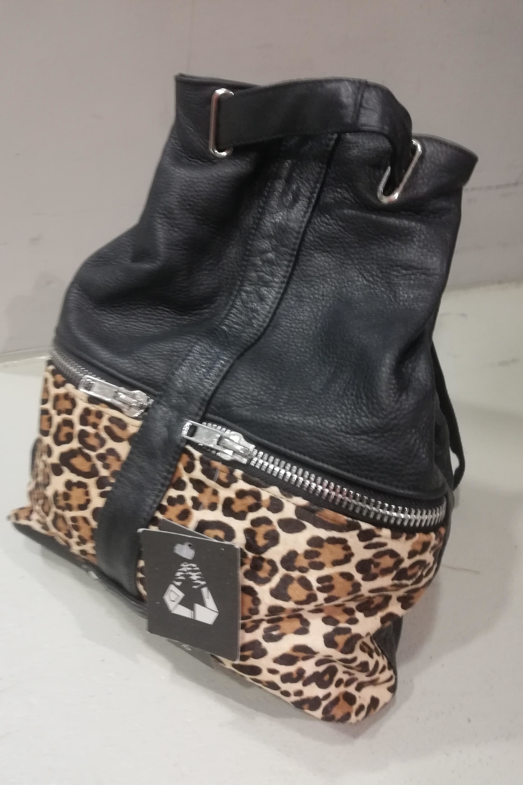 BAM Reworked Leather Backpack - Side Cropped Image