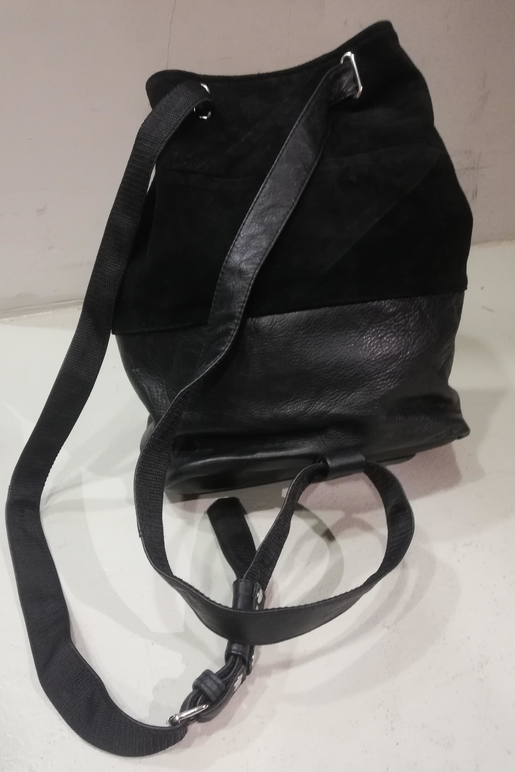 BAM Reworked Leather Backpack - Back Cropped Image