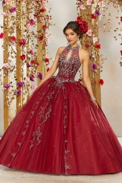 Morilee Rhinestone and Crystal Beaded Embroidery on a Princess Tulle Ballgown - Product List Image