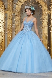Morilee Rhinestone and Crystal Beaded Embroidery on a Tulle Ballgown - Product Mini Image