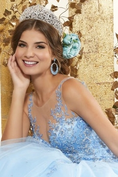 Morilee Rhinestone and Crystal Beaded Embroidery on a Tulle Ballgown - Alternate List Image
