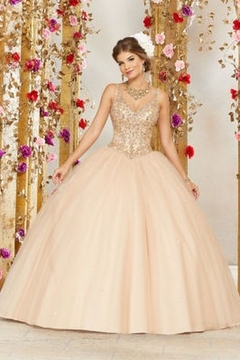 Shoptiques Product: Rhinestone and Crystal Beading on a Tulle Ballgown