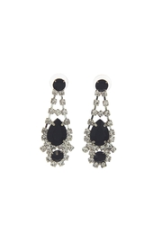 Sassy South Rhinestone Black Earrings - Product Mini Image