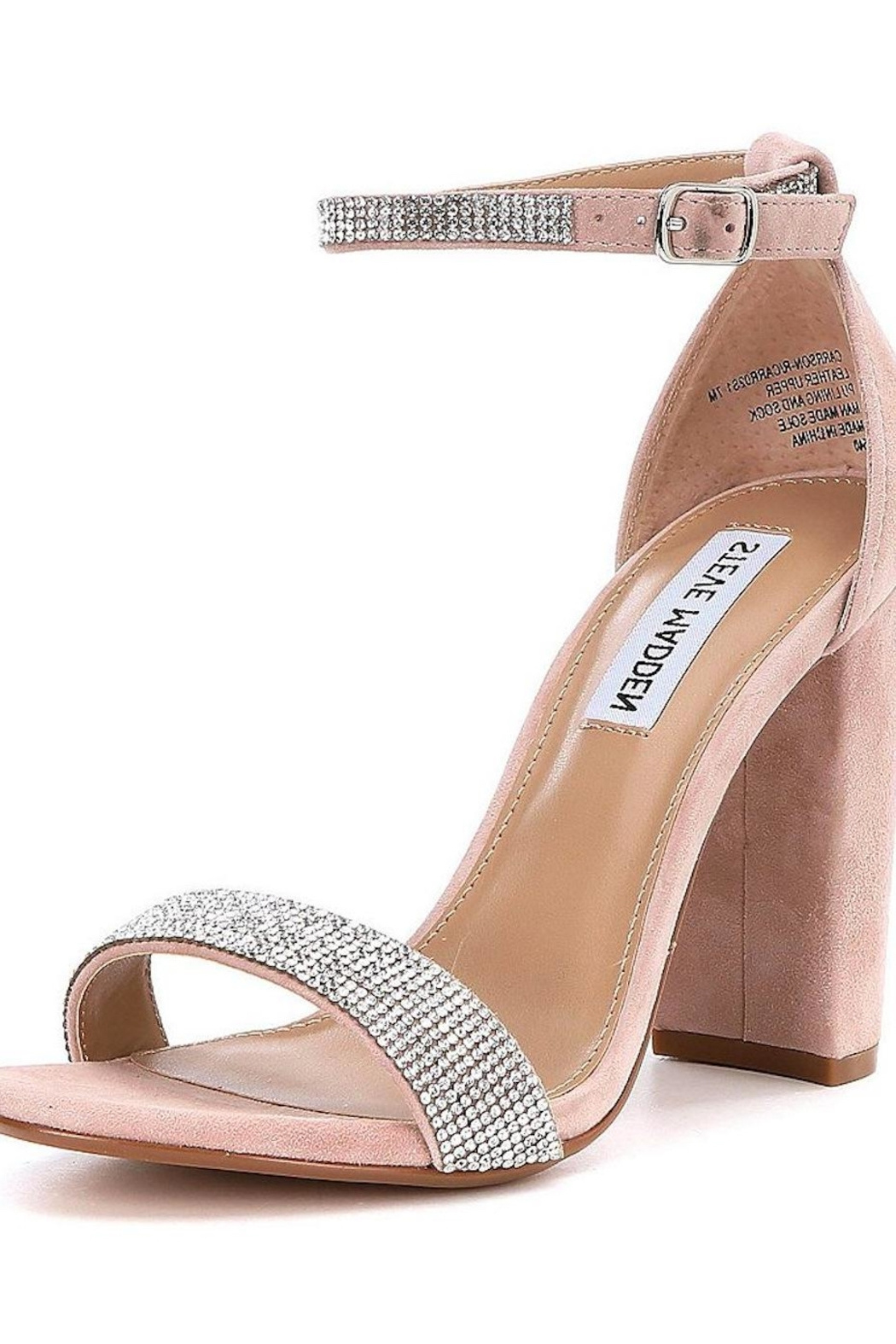 5677440b932c Steve Madden Rhinestone Block Heel from Guilford by A s Unique ...