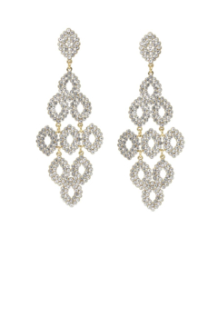US Jewelry House Rhinestone Chandelier Statement Earrings - Alternate List Image