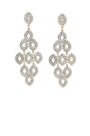 US Jewelry House Rhinestone Chandelier Statement Earrings - Product Mini Image