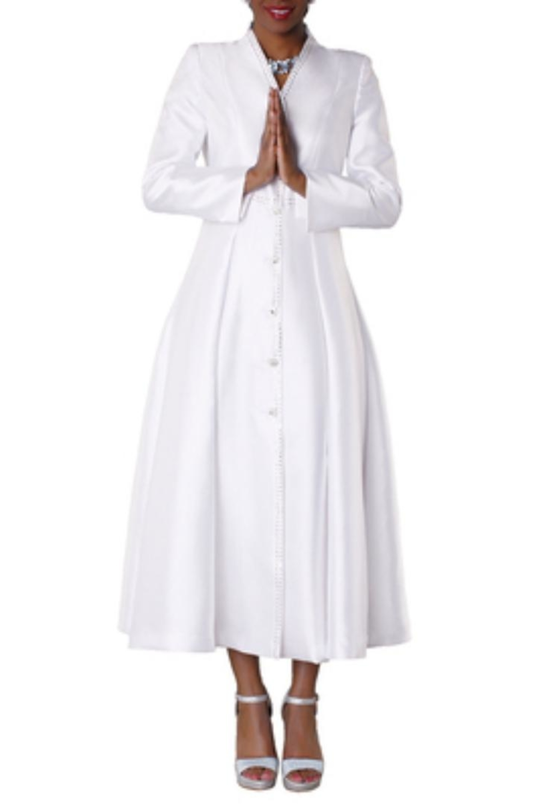 Tally Taylor Rhinestone Clergy Robe - Front Cropped Image