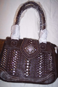 Montana West Rhinestone Conceal Carry Shoulder Tote - Product List Image