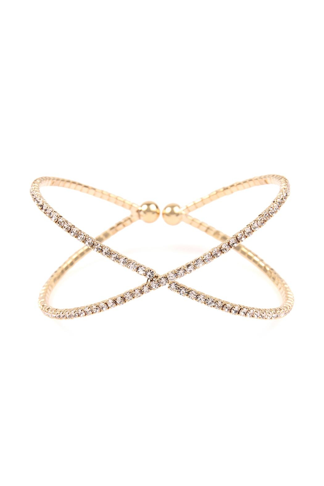 riah fashion rhinestone cuff bracelet from california shoptiques