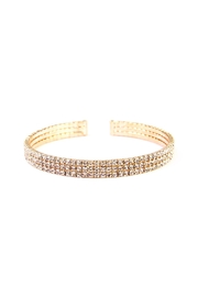 Riah Fashion Rhinestone Cuff Bracelet - Product Mini Image