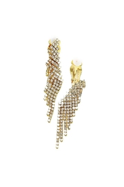 Lets Accessorize Rhinestone Fringe Clip-Ons - Front cropped