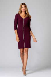 Joseph Ribkoff Rhinestone Front Dress - Product Mini Image