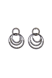 Giftcraft Inc.  Rhinestone Gunmetal Earrings - Product Mini Image