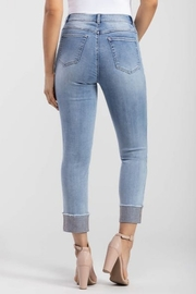 Tribal  Rhinestone Hem Jean - Front full body