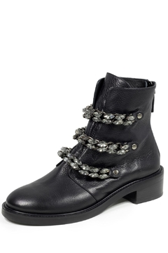 Shoptiques Product: Rhinestone Leather Boot