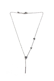 Lets Accessorize Rhinestone-Love Lariat Necklace - Product Mini Image