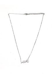 Blue Sky Rhinestone Love Neckace - Product Mini Image