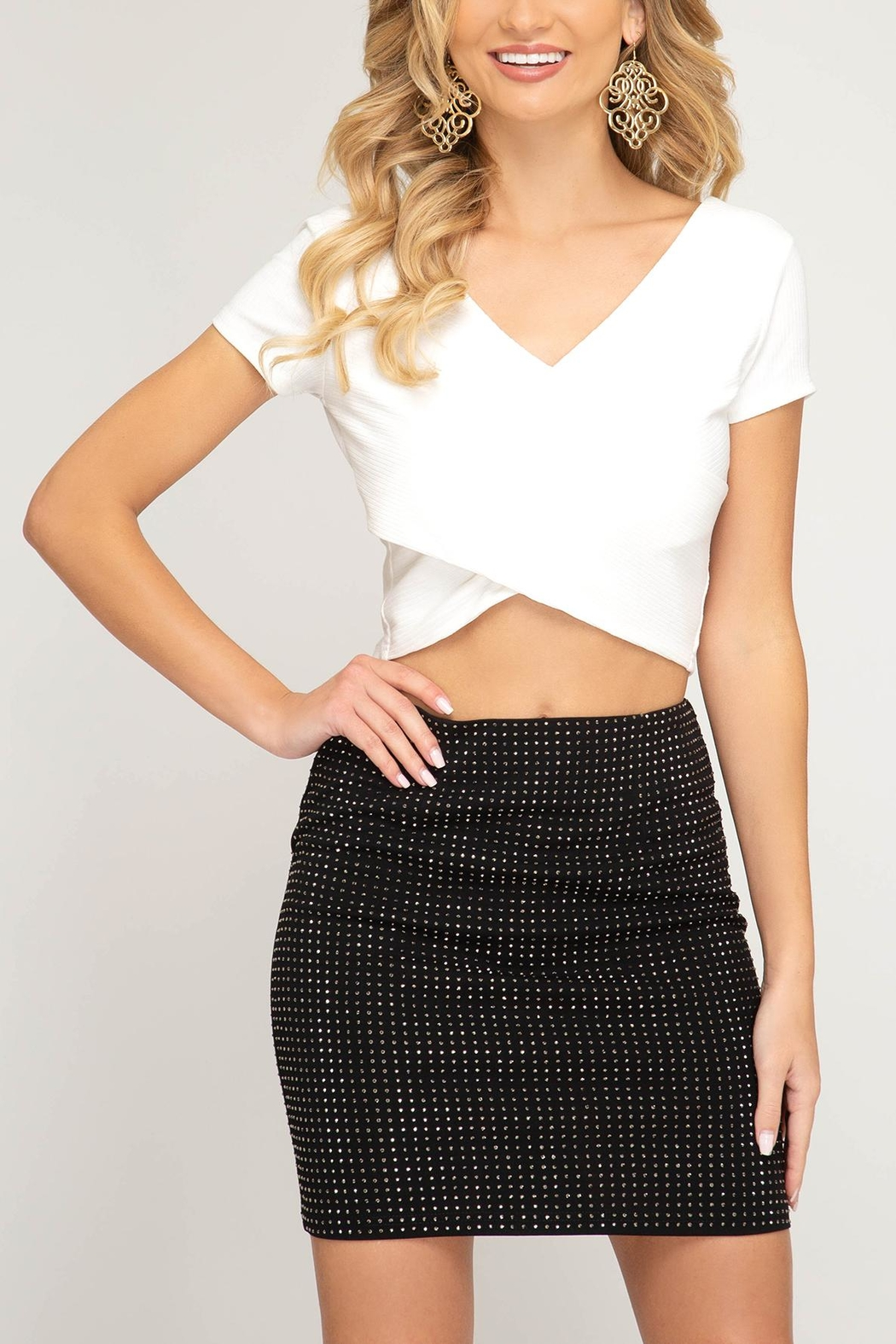6eb5dbbbc Unknown Factory Rhinestone Mini Skirt from Raleigh by Athleisure ...