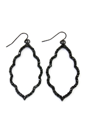 Riah Fashion Rhinestone Moroccan Earrings - Product Mini Image