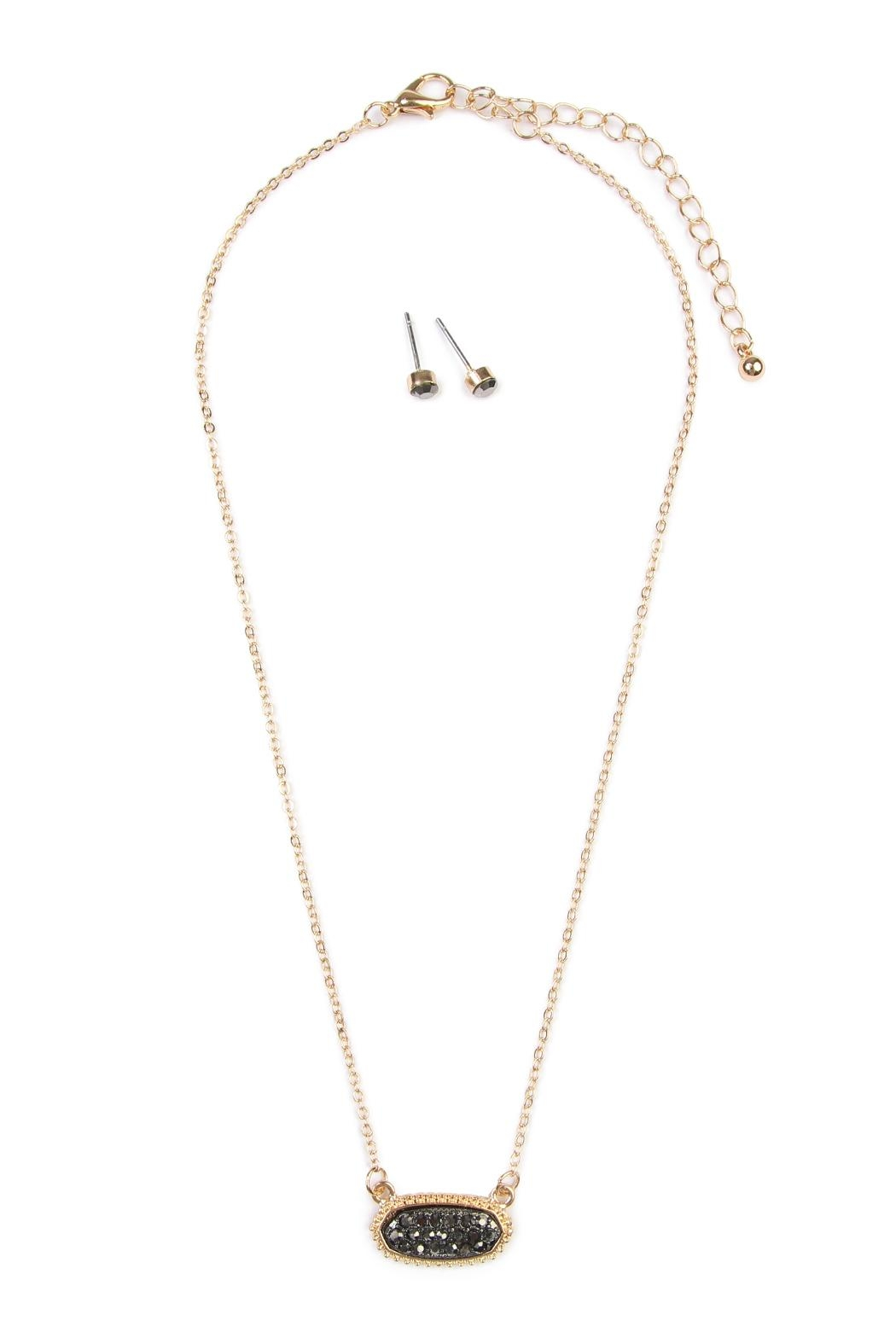 Riah Fashion Rhinestone Necklace - Front Cropped Image
