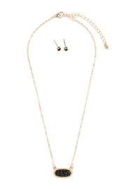 Riah Fashion Rhinestone Necklace - Front cropped