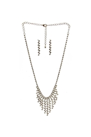 Diane's Accessories Rhinestone Necklace & Earrings - Product Mini Image