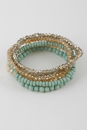 H & D Rhinestone Pearlish bracelet Set - Product Mini Image