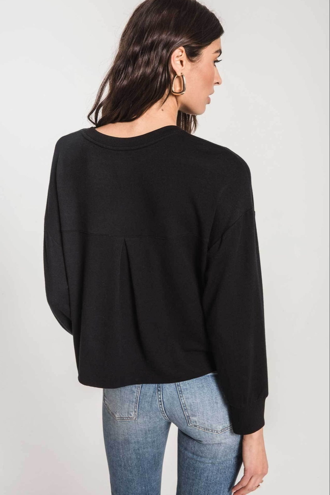 z supply Rhinestone Pullover - Side Cropped Image