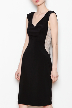 Joseph Ribkoff USA Inc. Rhinestone Side Panel Black Dress - Product List Image