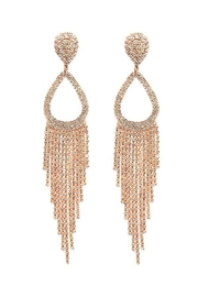 Nadya's Closet Rhinestone Tassel Clip-Earrings - Product Mini Image