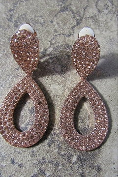 Sophia RHINESTONE TEARDROP CLIP EARRING - Alternate List Image