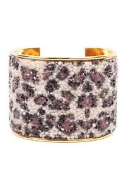 Riah Fashion Rhinestone-Wide-Cuff Bangle-Bracelet - Product Mini Image
