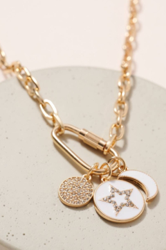 avenue zoe  Rhinestones Charms Chain Linked Necklace - Product List Image
