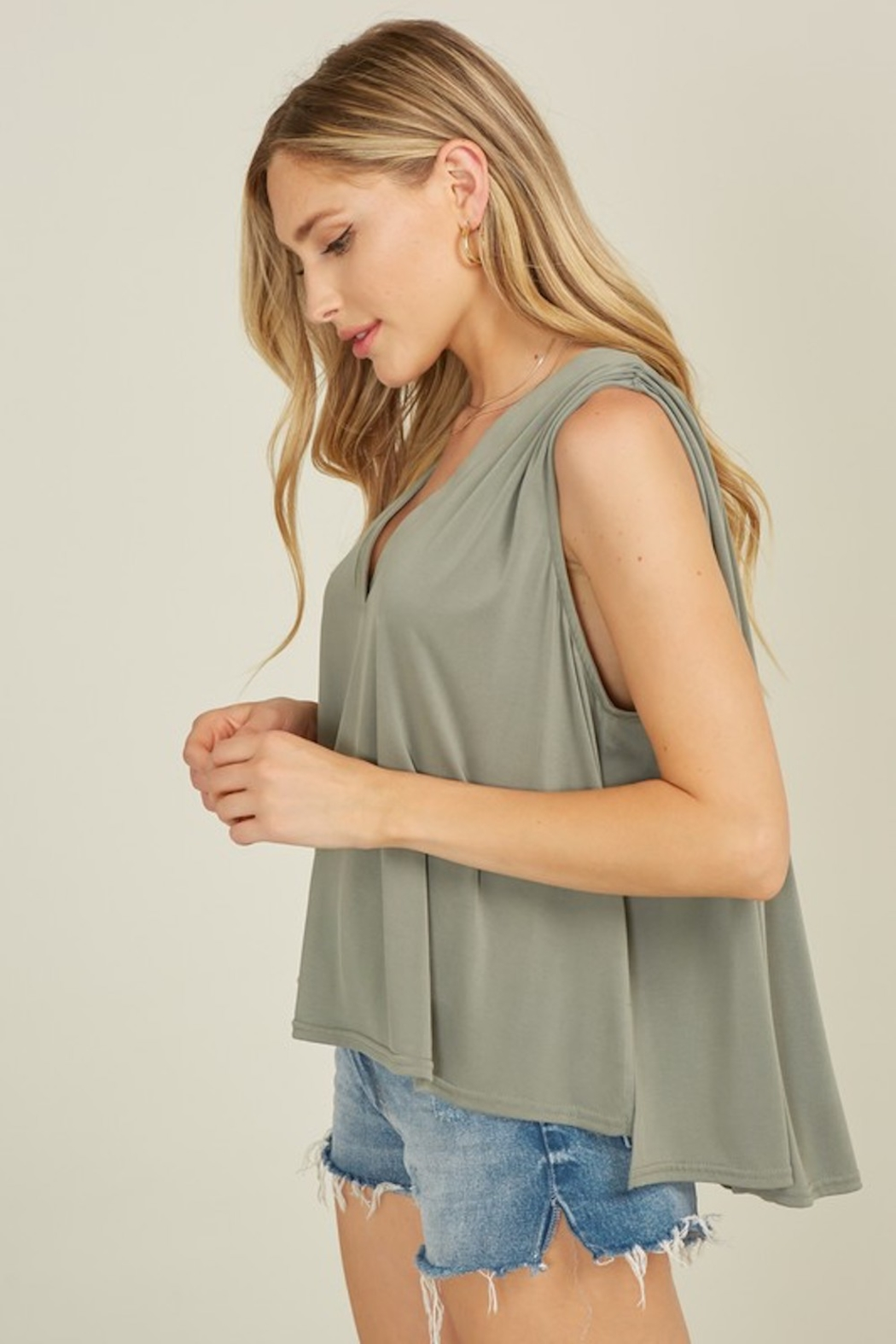 blue blush Rhode Tank - Front Full Image