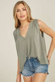 blue blush Rhode Tank - Front cropped