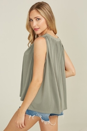 blue blush Rhode Tank - Side cropped