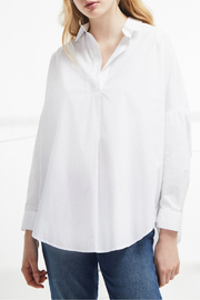 French Connection Rhodes Poplin Relaxed Fit Shirt - Front full body