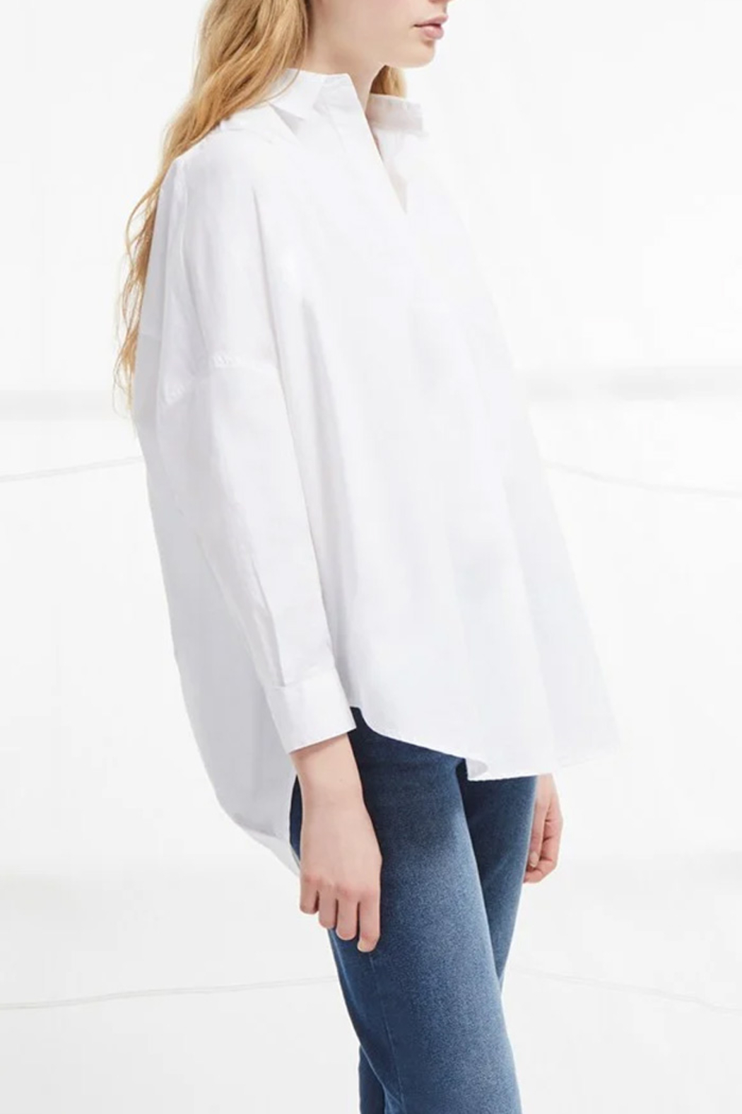 French Connection Rhodes Poplin Relaxed Fit Shirt - Side Cropped Image