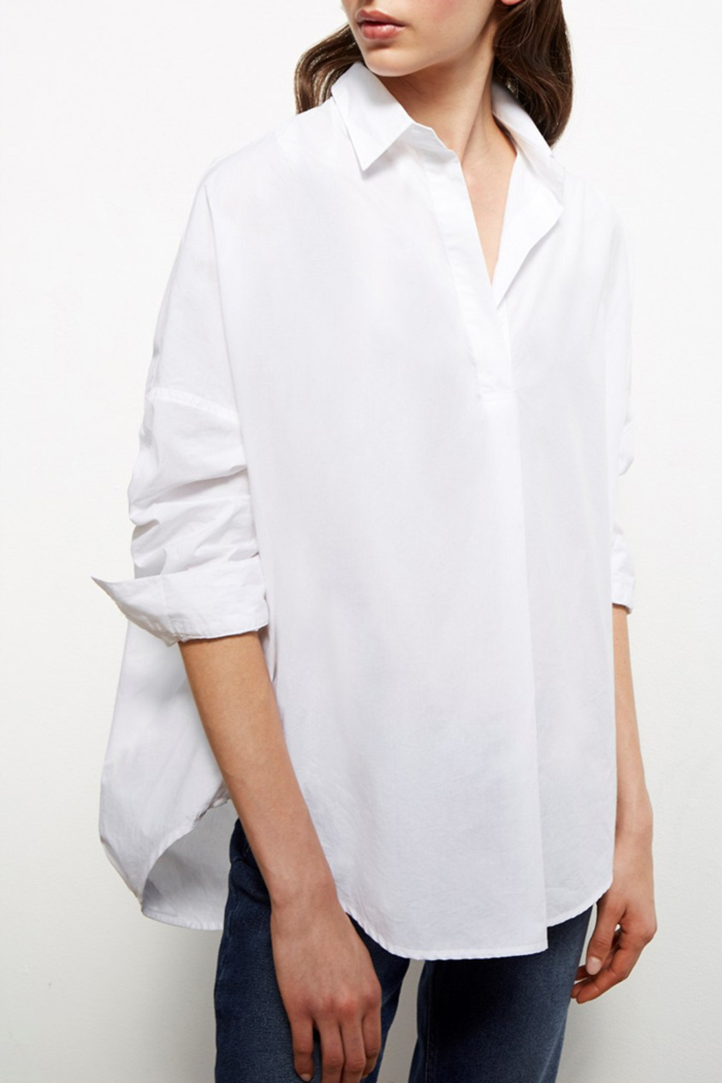 French Connection Rhodes Poplin Relaxed Fit Shirt - Main Image