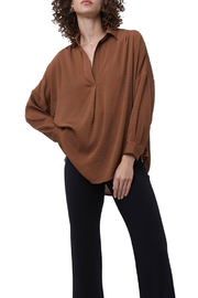 French Connection Rhodes Textured Popover Top - Product Mini Image