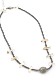 Slate Gray Gallery Rhodium Diamond Necklace - Product Mini Image