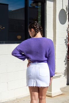 Cupcakes and Cashmere Rhonda Puff Sleeve Crop Sweater - Product List Image