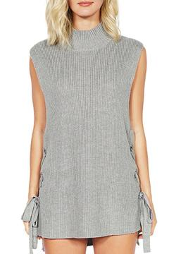 Shoptiques Product: Turtleneck Sweater With Lace Up
