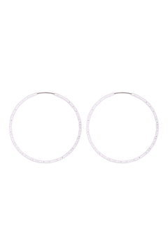 Riah Fashion 1.5/40mm-Endless-Texture-Earrings - Product List Image