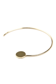 Riah Fashion 1.5-Inch-Wired 'C' Hoop-With-Disc-Earrings - Side cropped