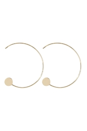Riah Fashion 1.5-Inch-Wired 'C' Hoop-With-Disc-Earrings - Product Mini Image