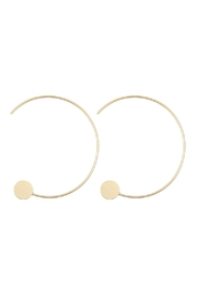 Riah Fashion 1.5-Inch-Wired 'C' Hoop-With-Disc-Earrings - Front cropped