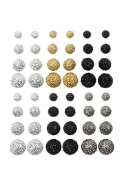 Riah Fashion 12 Pair Fire Ball Multi Earring Assorted By Set - Product Mini Image